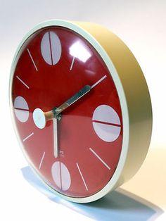 Home Decorators Collection Blinds Retro Home, Retro Art, Big Ben Clock, 70s Decor, Pendulum Clock, Retro Clock, Modern Clock, Cute House, Pop Design