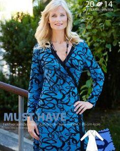 Slå-om-kjole i blød jersey  Must have - I enhver kvindes klædeskab bør der være mindst 1 slå-om-kjole (citat Diane von Fürstenberg)  - stof2000.dk