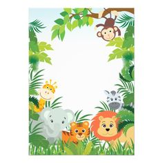 Cute Jungle Safari Baby Shower Invitations Source by sexybitchygal . Safari Party, Safari Jungle, Safari Baby Shower Cake, Safari Theme Birthday, Animal Birthday, 1st Boy Birthday, Baby Shower Themes, Jungle Theme Cakes, Safari Animals