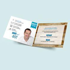 Besondere Einladungen - Geburtsagskarten zum selbst Gestalten. Witzige Einladungskarten zum Geburtstag