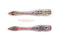 6 inches WATERPROOF doublesided hair stick by RasaOm. by rasaom