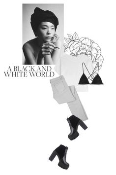 """a black and white world"" by rosa-loves-skittles ❤ liked on Polyvore"