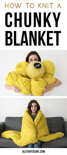 A step-by-step video tutorial on how to knit a chunky blanket. Also including a 10% discount code to use on any Ohhio products.