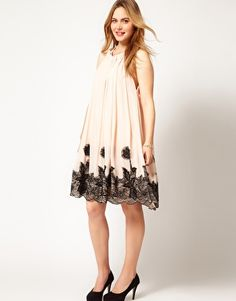 Enlarge ASOS CURVE Swing Dress With Lace Applique