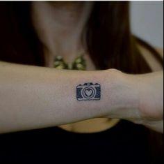 cute camera tattoo