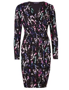 PETITE Abstract Print Wrap Dress with StayNEW™ | M&S