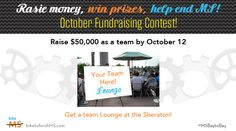We are coming down the final stretch so we though we would hold another fundraising contest! Every team that has raised $50,000 by October 12 gets a Team Lounge at the Sheraton! The top team in each division by October 12 also earns its very own team song & start! Find fundraising ideas here : po.st/fundraising