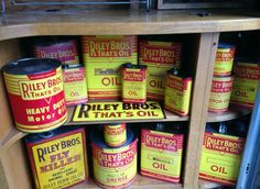 Original Riley Brothers Motor Oil Advertising Display