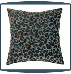 Wild Life Decorative Pillows in Turquoise by Michael Amini