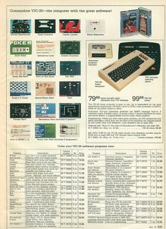 1983 Montgomery Ward Christmas Catalog VIC-20 Games Seeing this is amazing!