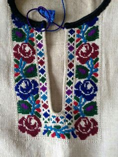 Ukrainian folk blouse embroidery. Hardanger Embroidery, Beaded Embroidery, Embroidery Patterns, Hand Embroidery, Needlepoint, Pattern Design, Needlework, Sewing Projects, Cross Stitch