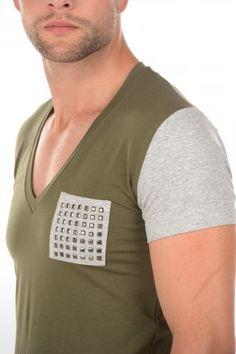 Zumo t-shirt Chiodi Army/Grey 1326 6837 Army/Grey » JeansandFashion.com