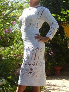 Vestido Blanco Crocheteado / by Lena Marques - Artesanio