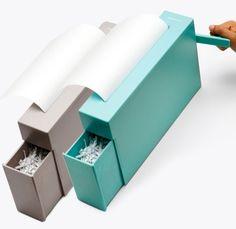 Loving this good looking hand-crank paper shredder!