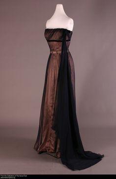 Evening Dress, Worn by Elizabeth Parke Firestone, 1952-1953