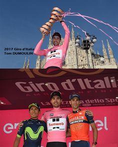 2017 Giro d'Italia podium  Nairo QUINTANA,Tom DUMOULIN, Vincenzo NIBALI
