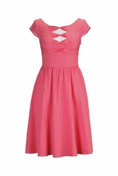 eShakti Women's Cotton poplin bow front dress L-14 Tall Sunkist coral eShakti,http://www.amazon.com/dp/B00I8KN77W/ref=cm_sw_r_pi_dp_iXNltb115YEEMDNY