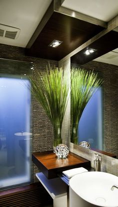 a resort guest bathroom!    Repinned for the design inspiration of clients and friends of https://stebnitzbuilders.com