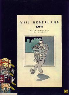 Cover booksupplement Dutch newspaper Vrij Nederland - Joost Swarte 1980