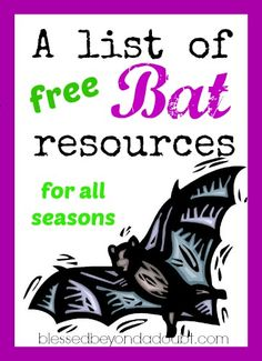 A List of FREE Bats Lesson Plans and Resources - Blessed Beyond A Doubt