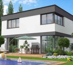 Fantastisch Haus Modern Bauen ~ Kreative Bilder F\u00fcr Zu Hause Design | Moderne  Architektur Einfamilienhaus | Pinterest
