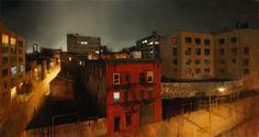 "Williamsburg Midnight, 34"" X 64"", oil on canvas"
