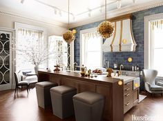 1. Light FantasticLuna Globe pendants from Downtown make a statement. Track lighting is for tasks. And whimsical polished nickel, brass, and acrylic