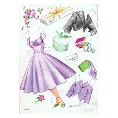 1955 Debbie Reynolds paper doll clothes / cdvdmart.com