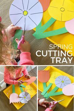 Scissor Skills Practice Spring Cutting Tray