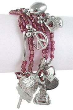 Different type of charm bracelet.  Cute! Very Gypsy!!!!