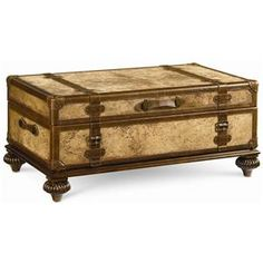 This Trunk Table Is An Ernest Hemingway Traveler S Tail By Thomasville British Colonial Design