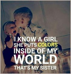 Tag-mention-share with your Brother and Sister Brother Sister Relationship Quotes, Brother Sister Love Quotes, Brother And Sister Love, Sister Day, Sibling Quotes, Besties Quotes, Family Quotes, Caption For Sisters, Sister Captions