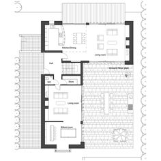 Houseplans.com European Main Floor Plan Plan #520-8