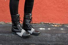 fabric boots - diy http://abeautifulmess.typepad.com/my_weblog/2012/01/floral-boots-diy.html