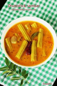 Drumstick sambar is a thick lentil soup made of vegetable drumsticks, lentils & spice powders. Tasty Vegetarian Recipes, Curry Recipes, Vegetable Recipes, Chicken Recipes, Rice Recipes, Healthy Recipes, Sambhar Recipe, Indian Beef Recipes, Drumstick Recipes
