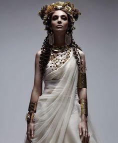Gold and white Goddess