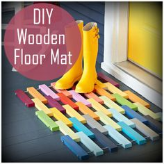 DIY Wooden Floor Mat