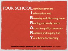 Who Needs School Libraries? - This week I want to highlight the school library as a physical and virtual place. Obviously, I think it is central to a school's learning, life, and culture. To remove all or any of its modern functions would seriously weaken a school, both in the short and long term.