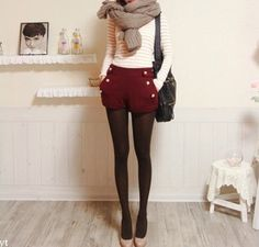 not usually a fan of high waisted shorts, but these work with the tights