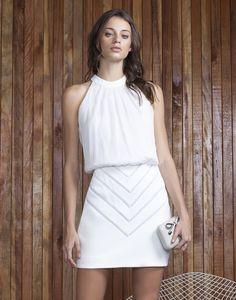Vestido Blusado com Entremeio Branco - Lez a Lez