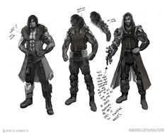 View an image titled 'Jax Sketches' in our Mortal Kombat X art gallery featuring official character designs, concept art, and promo pictures. Game Character Design, Character Development, Character Concept, Character Art, Concept Art World, Game Concept Art, Mortal Combat, Xenomorph, Nightwing