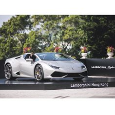 The solution to the question: that was the Huracán LP 610-4 Spyder unveiled at @lamborghinihk!  #Lamborghini #HuracanSpyder #HongKong #sportscar by lamborghini