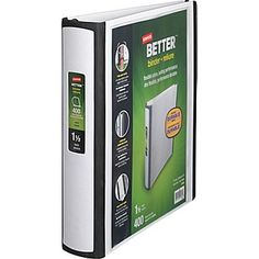 """1-1/2"""" Staples® Better® View Binders with D-Rings, White preferably in 5 different colors"""