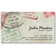 Vintage passport vintage stuff i like pinterest ephemera passport stamps style 4 business card templates colourmoves