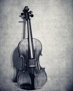 Still Life Violin Fine Art Photography Musical Instrument Fiddle Photo Classical Music Room Decor Music Lover Gift Idea Black and White Art