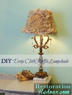 DIY Drop Cloth Ruffle Lampshade