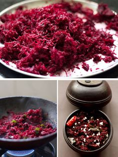 Beetroot Thoran-Thoran is a traditional Kerala dry vegetable recipe made with grated or finely chopped vegetables.The basic ingredients in which the vegetables are cooked are shallots, coconut, curry leaves, mustard seeds, turmeric powder, green chili or red chili and coconut oil.