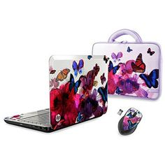 HP Butterfly Blossom Design Laptop PC with AMD Processor and Windows 7 Home Premium with Windows 8 Upgrade Option bundled with Optional Matching Case and Mouse Moving On In Life, Check Email, New Laptops, Hp Pavilion, Laptop Computers, Computer Laptop, Laptop Skin, Hdd, Computer Accessories