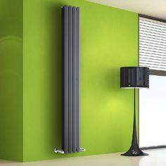 Design Heizkörper Vertikal Anthrazit 1255 Watt 1780mm x 280mm Vital - Image 1