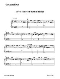 Love Yourself-Justin Bieber Stave Preview 1